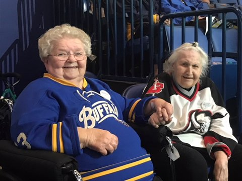 Two Wishes Granted At Once For  Betty and Elaine To Go To A Sabres Game! Image