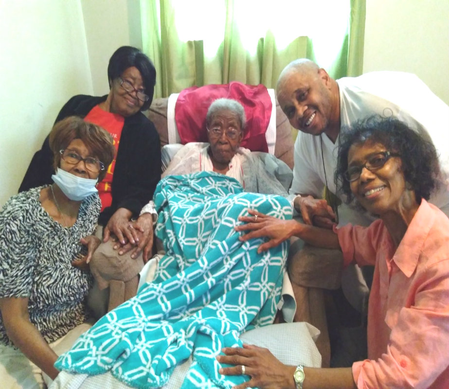 Phillip visits his 113 year old grandmother! Image