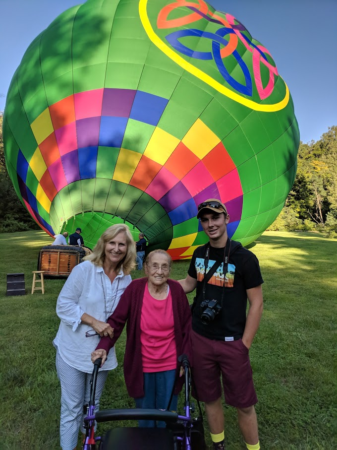 Ruth's wish comes true to take to the sky! Image