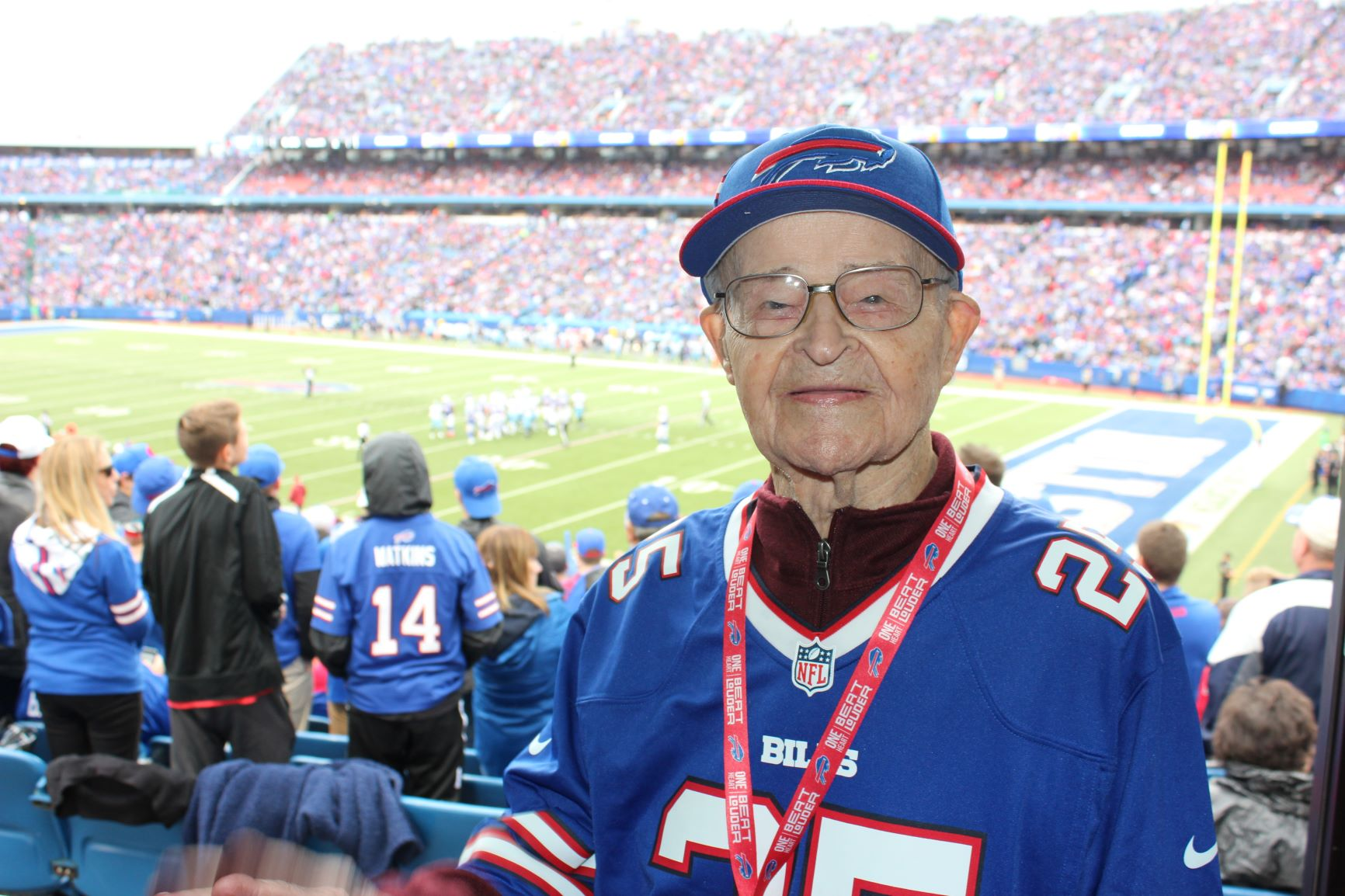 A VIP Day at the Bill's game for Eddie, 104! Image