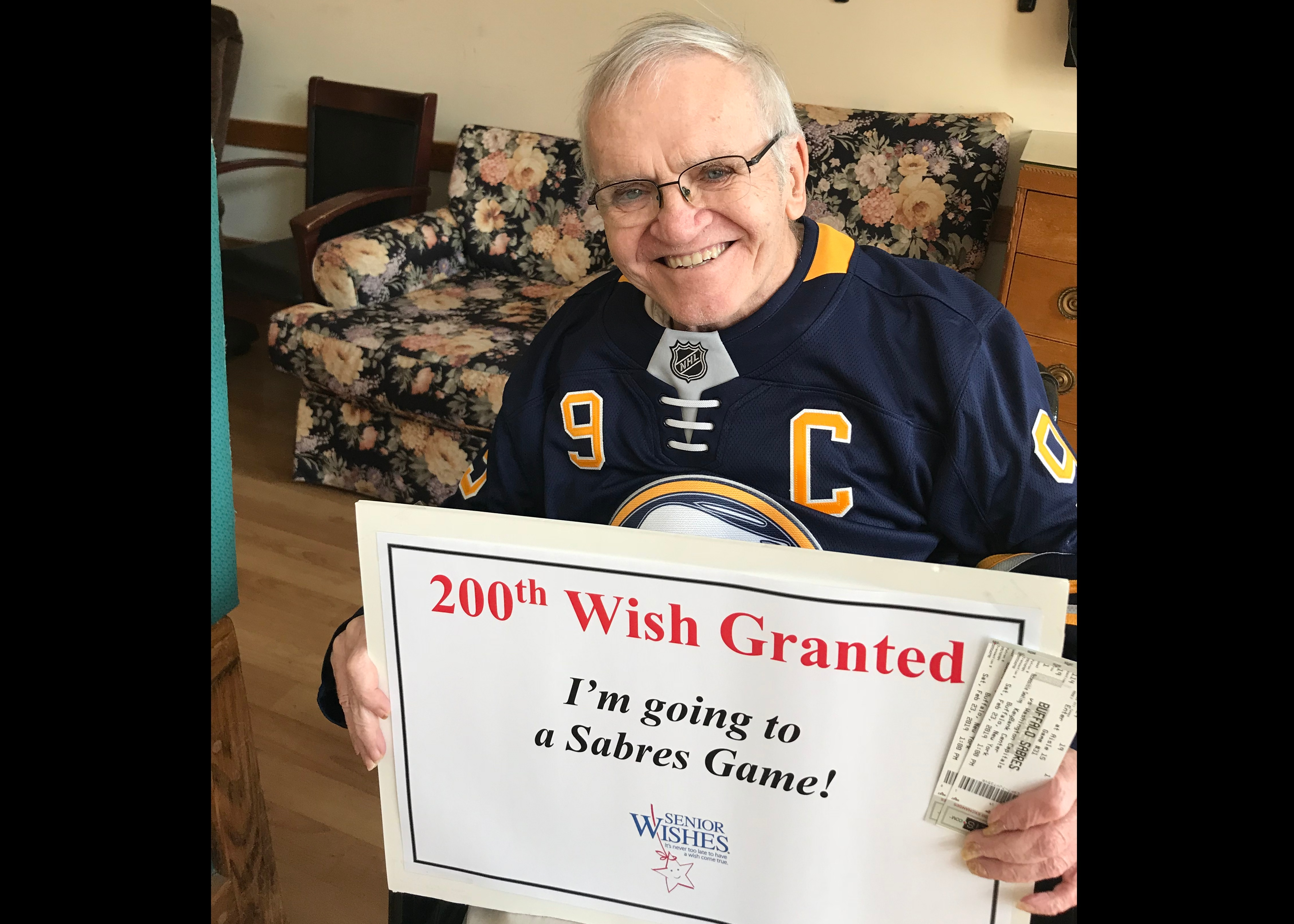 Our 200th Wish!  A Wish to go to a Sabres game Image