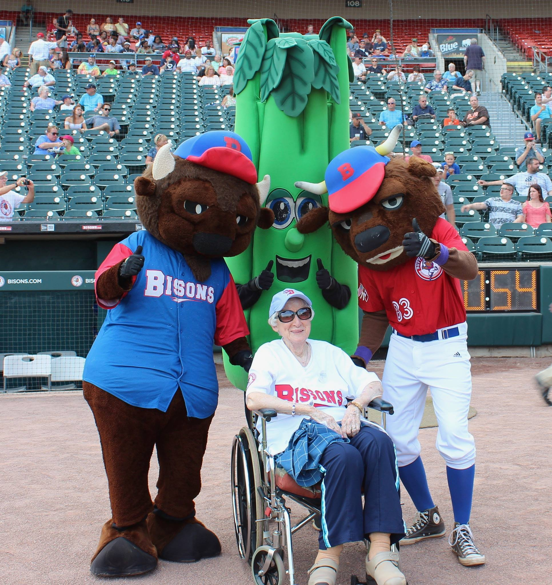 An opportunity to throw out the first pitch for Florence! Image