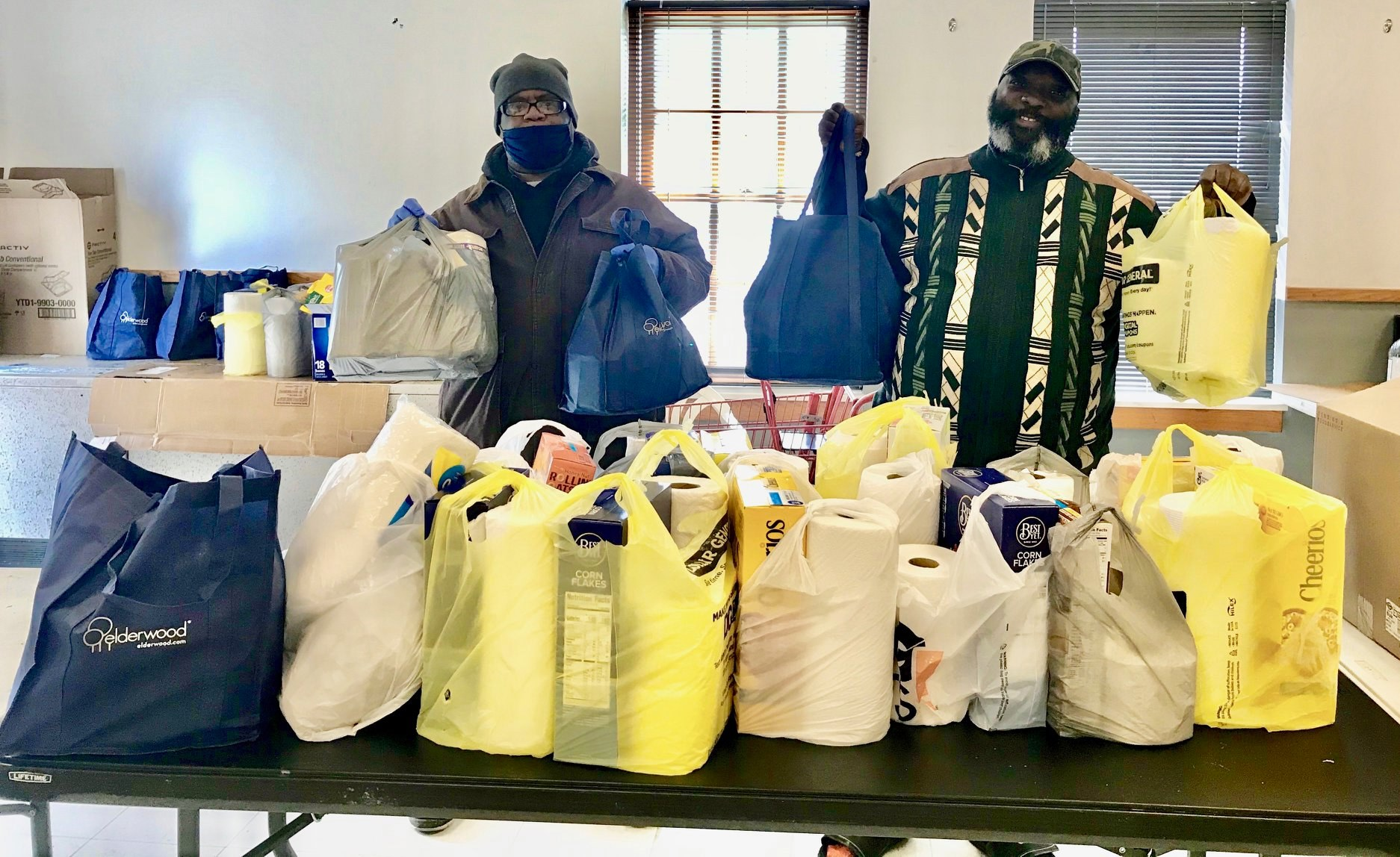 Bags of food donated to Martha Mitchell Community Center Image