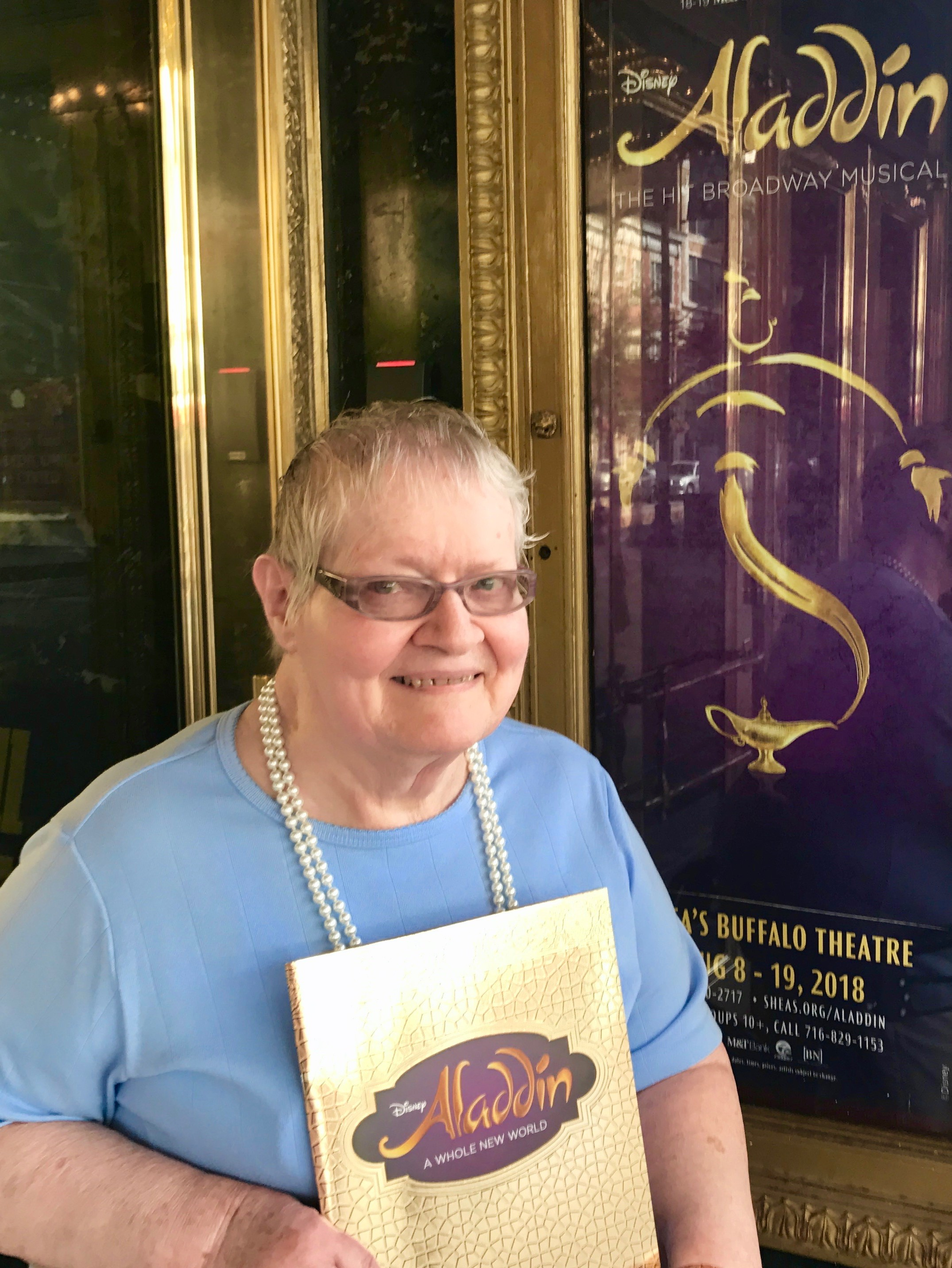 Myrtle attends Aladdin at Shea's Image